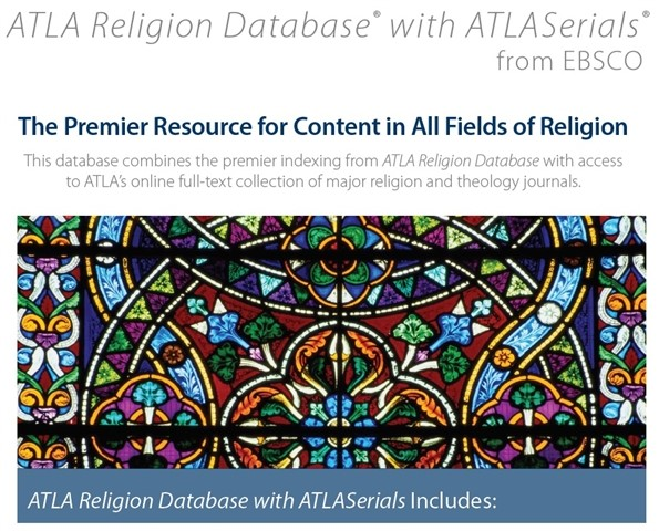 Započeo promotivni pristup bazama ATLA Religion Database i ATLASerials Religion Collection